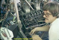 Ike Smith working on Dr. Korn's Lola